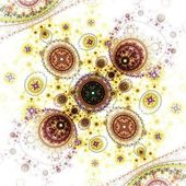Colorful clockwork pattern, digital fractal art design — Stockfoto