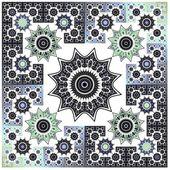 抽象花分形几何艺术背景图案 — 图库照片