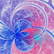 Stock Photo: Blue light fractal flower, digital artwork