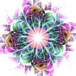 Stock Photo: Colorful fractal flower, digital artwork