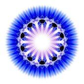 Blue light fractal flower, digital artwork — Stock Photo
