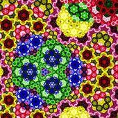 Esagono colorato frattale, opere d'arte digitale — Foto Stock