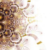 Ciemny żółty fraktal kwiatki — Zdjęcie stockowe