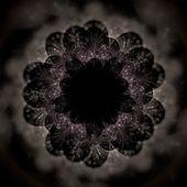 Dark brown fractal flower pattern — Stock Photo