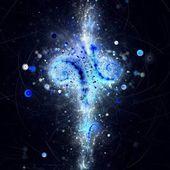 Dark blue fractal abstract pattern — Stock Photo