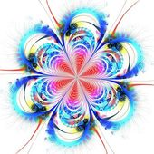 Colorful fractal flower pattern — Stock Photo