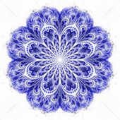 Blue fractal flower pattern — Stock Photo