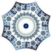 Синее фрактальное цветочный узор — Стоковое фото