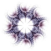 Violet and brown fractal flower pattern — Stock Photo