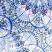 Ciemny niebieski fioletowy fraktal czarny kwiat — Zdjęcie stockowe