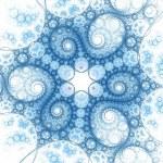 Dark fractal artwork, abstraction clockwork — Stock Photo