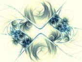 暗蓝色分形花朵图案 — 图库照片