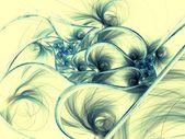 Dark blue fractal flower pattern — Stock Photo