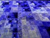 Abstract blue square fractal perspective mosaic style background — Stock Photo