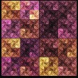 Abstract colorful square fractal mosaic style background — Stock Photo #48686311