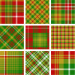 Christmas plaid patterns — Stock Vector