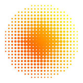 Sun halftone — Stock Vector