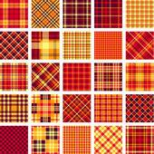 B&W big plaid pattern set — Stock Vector