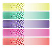 Abstract mosaic banners — Stock Vector