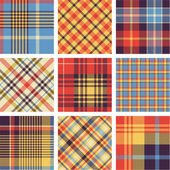 Plaid patterns — Vetorial Stock