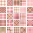 Stock Vector: Big plaid pattern set