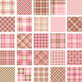 Big plaid pattern set — 图库矢量图片