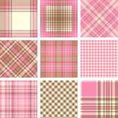 Plaid patterns — Vettoriale Stock