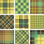 Plaid patterns — Stock Vector
