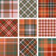 Stock Vector: Plaid patterns