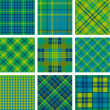 Tartan set — Stock Vector