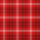 Seamless red tartan — Stock Vector