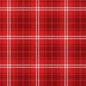Seamless red tartan — Stock Vector