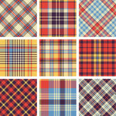 Plaid patterns — Vector de stock