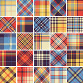 Big set of seamless tartan patterns — Stockvector