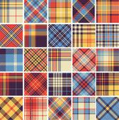 Gran conjunto de patrones de tartán inconsútil — Vector de stock