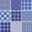 Set of seamless tartan patterns — Stock Vector #17147893