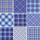 Set of seamless tartan patterns — Stock Vector
