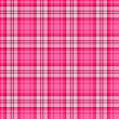 Stock Vector: Bright pink seamless tartan