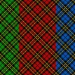 Seamless tartan patterns — Stockvektor