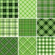 Stock Vector: Set of seamless tartan patterns