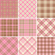 Set of seamless tartan patterns — Stockvektor