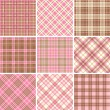 Set of seamless tartan patterns — Vector de stock
