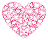 Stylized pink heart — Stock Vector