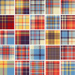 Big set of seamless tartan patterns — Stock vektor