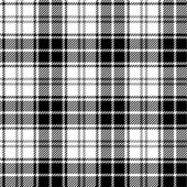 Black and white seamless tartan — Cтоковый вектор