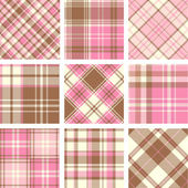 Tartan patterns — Stock Vector