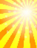 Sun pixel background — Stock Vector