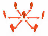 Orange teamwork communication — Stock Photo