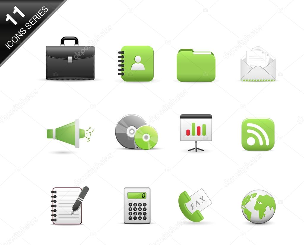 Icons Set for Web Applications, Office icons, Universal icons Set - Vector — Stock Vector #14016691
