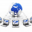 Global blue Computer Network — Stock Photo #21339869
